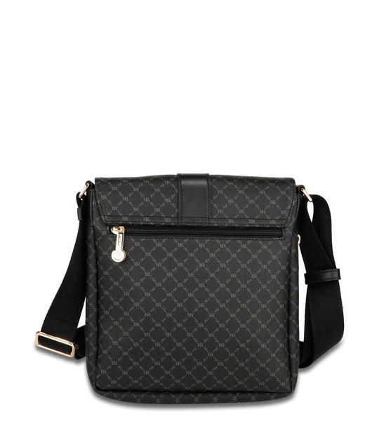 Top Buckle Messenger Bag - Miley in Black