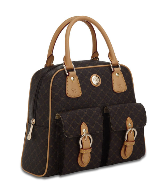 Top Handle Organizer Bag - Naomi in Brown
