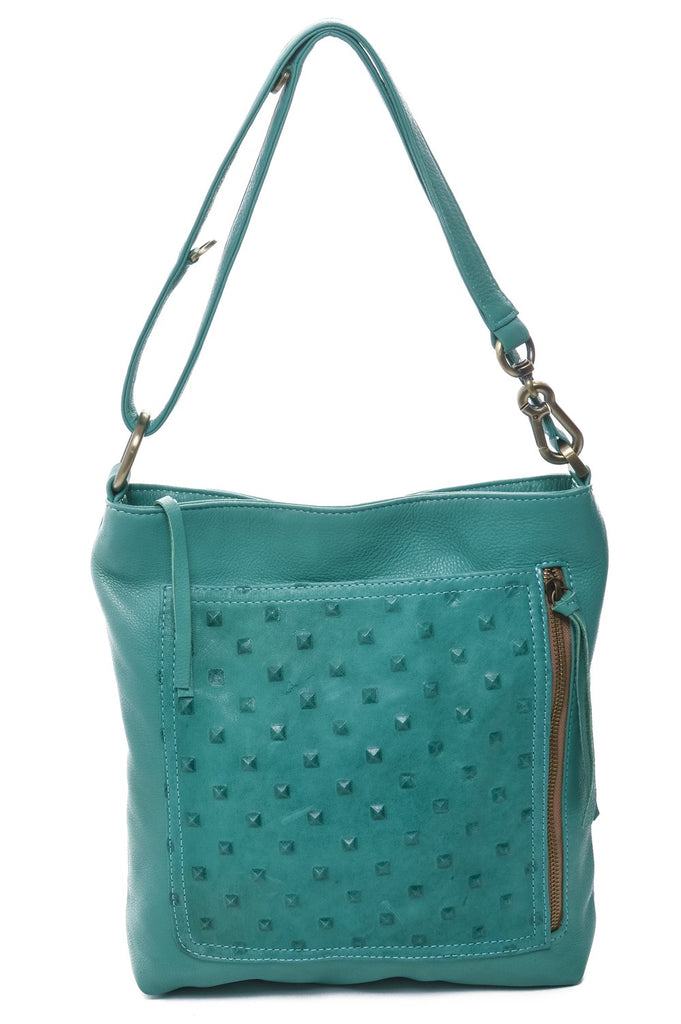 Riley - Studded - Emerald