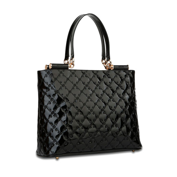 Lindsay Shoulder Tote - Black - Cuscino Collection