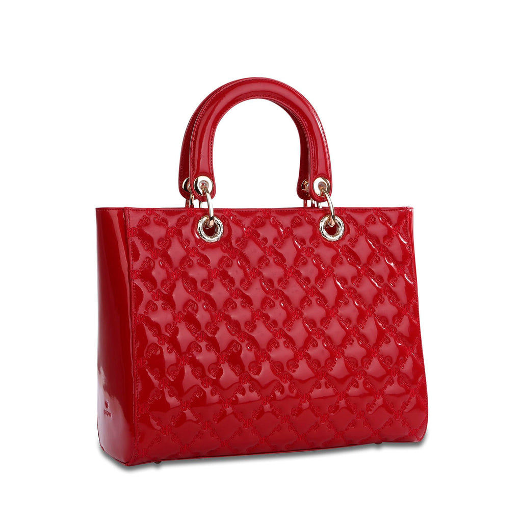The Zoey Tote - Red - Cuscino Collection
