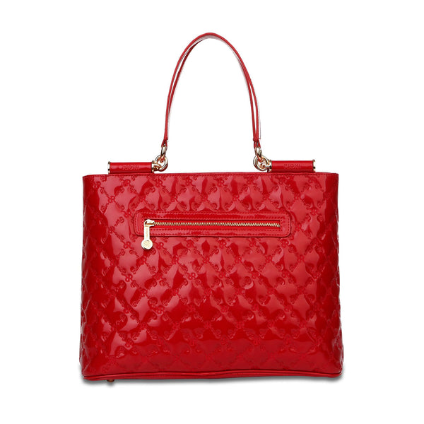 Lindsay Shoulder Tote - Red - Cuscino Collection