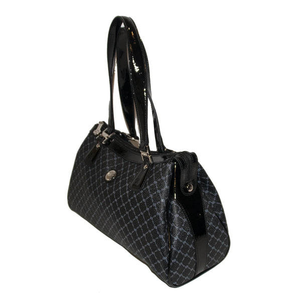 Large Dual Handle Black Logo Print Bag - 3