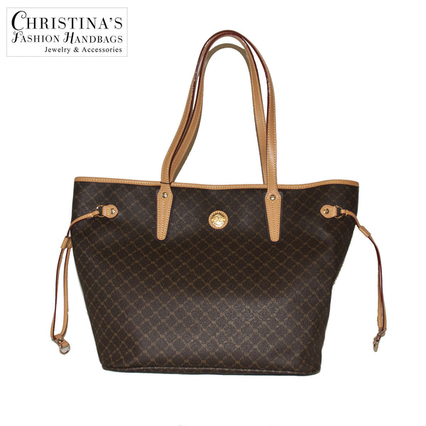 Luxury Logo Tote with Side Ties and Back Zip - 2
