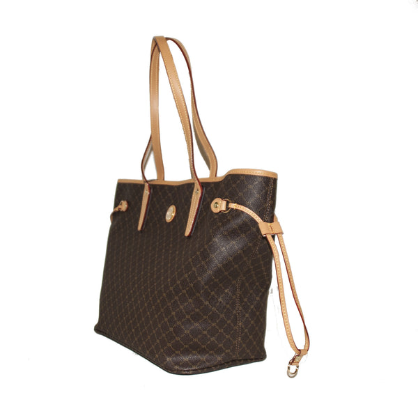 Luxury Logo Tote with Side Ties and Back Zip - 4