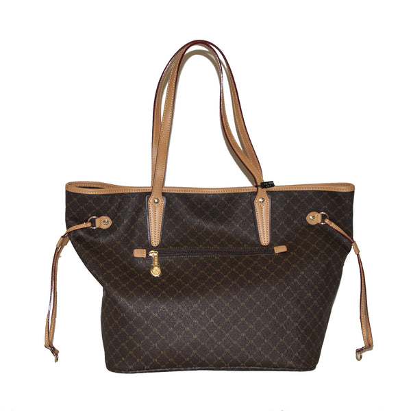 Luxury Logo Tote with Side Ties and Back Zip - 5