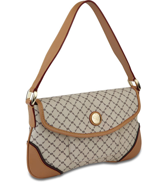 Top Flap Shoulder Bag - Valerie in Natural