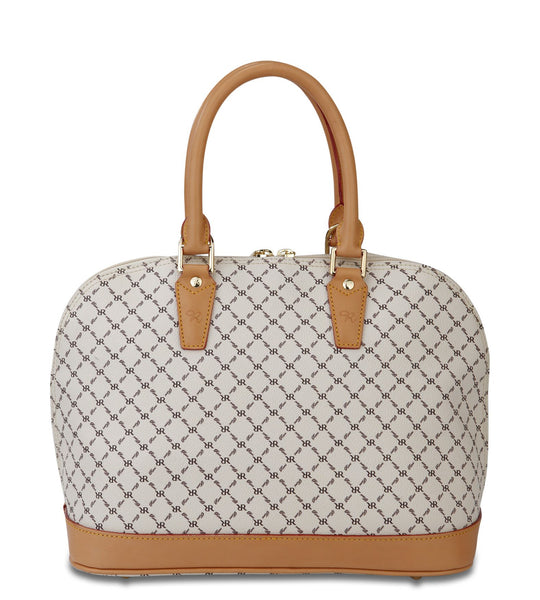 Dome Handle Bag - Lauren 32 - Natural