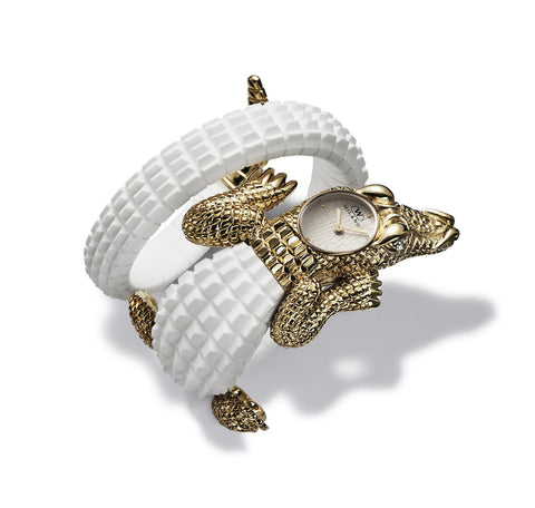 CROCO White/Gold