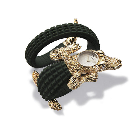 CROCO Dark Green/Gold