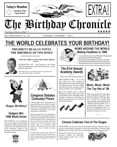 90th Birthday Gift, 90th Birthday Party, 90th Birthday Newspaper, Birthday Party Decoration, Gift For Her, Gift For Him, 8 x 10 Print