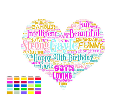 Personalized 90th Birthday Gift 90th Birthday Gift Ninety Birthday Gift Ideas Chalkboard Poster 90 Year Old Birthday DIGITAL DOWNLOAD .JPG