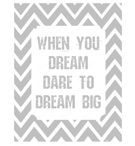 Inspirational Nursery Bedroom Print Wall Art When You Dream Home Decor Wall Art 8 x 10 Print