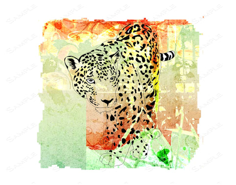 Leopard Wall Art Print Leopard Home Decor Wall Art 8 x 10 Print