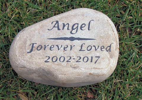 Pet Memorial Stone Grave Marker Pet Memorial Stone Headstone Personalized 9-10 Inches Wide