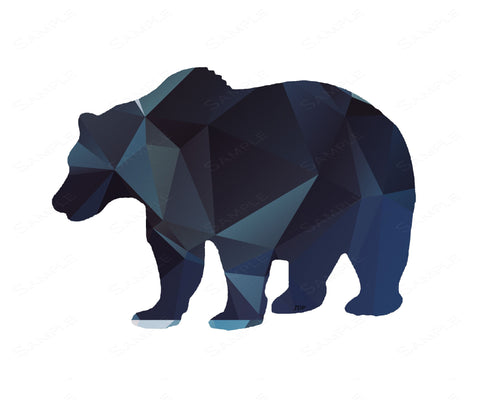 Bear Wall Print. Geometric Bear Home Decor Wall Art 8 x 10 Print