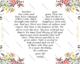 30th Birthday Gift Poem 30th Birthday Love Poem with Floral Border Thirty Birthday Gift Ideas 8 x 10 Print -DesignbyWord.Com