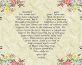 35th Birthday Gift, 35 Poem, Floral Border 8 x 10 Print