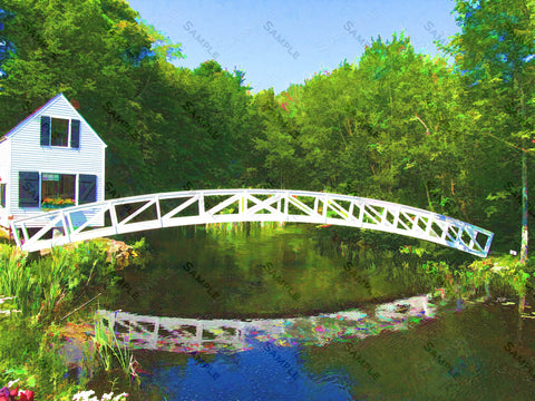 Maine, Acadia, Sommesville Bridge Wall Art Print. Home Decor 8 x 10 Print