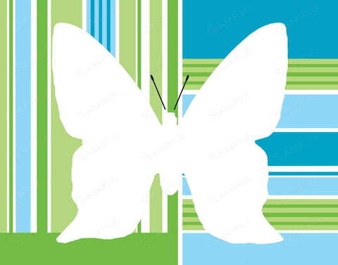 Blue Green Butterfly Wall Art Print Butterfly Home Decor Wall Art 8 x 10 Print