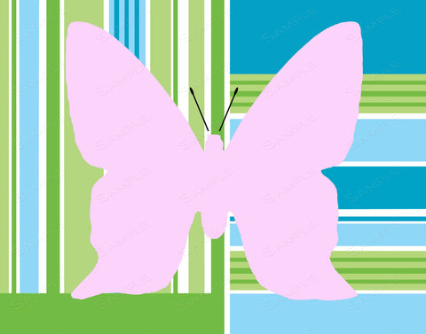 Pink Blue Green Butterfly Wall Art Print Butterfly Home Decor Wall Art 8 x 10 Print