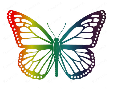 Rainbow Butterfly Wall Art Print 8 x 10