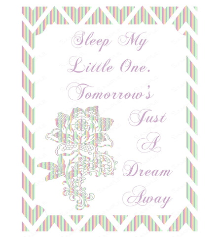 Nursery Room Wall Art Print Child's Poem Home Decor Wall Art 8 x 10 Print