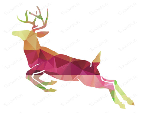 Geometric Deer Wall Art Print. Deer Home Decor Wall Art 8 x 10 Print