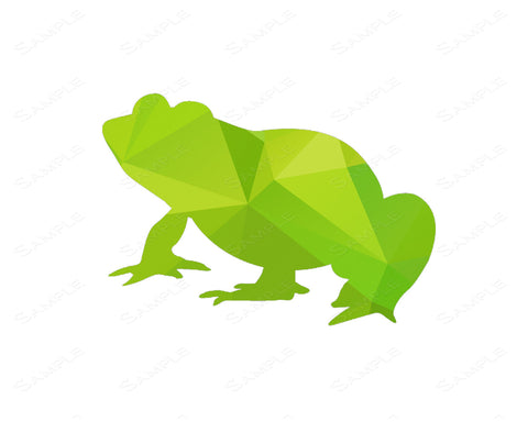 Geometric Green Frog Print Design Frog Wall Art Floral Home Decor 8 x 10 Print