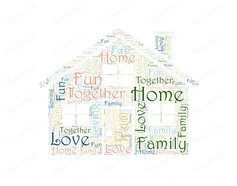Housewarming Gift Home Word Art 8 x 10 Print