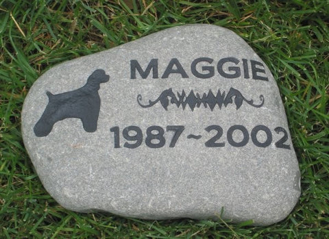 Personalized Pet Memorial Stone 9 - 10 Inch Memorial Stone Headstone Grave Marker Headstone Tombstone Gravestone Marker - Pet Memorial Stones, Personalized Pet Stone Memorial Grave Marker, Dog Memorial, Cat Memorials, Pet Gravestone Markers, Headstone