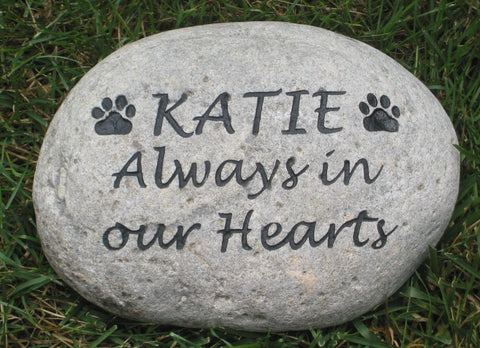 Personalized Pet Memorial Grave Maker Stone 8-9 Inch Memorial Burial Stone Marker Cemetery Headstone Marker - Pet Memorial Stones, Personalized Pet Stone Memorial Grave Marker, Dog Memorial, Cat Memorials, Pet Gravestone Markers, Headstone