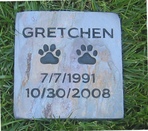 Personalized Pet Gravestone Memorial Marker 6 x 6 Inch Memorial Headstone Grave Marker - Pet Memorial Stones, Personalized Pet Stone Memorial Grave Marker, Dog Memorial, Cat Memorials, Pet Gravestone Markers, Headstone