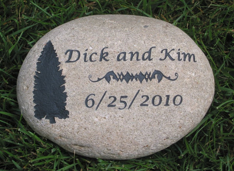 Personalized Oathing Stone for Irish Celtic or Scottish Wedding 9 - 10 Inch Wedding Stone - Pet Memorial Stones, Personalized Pet Stone Memorial Grave Marker, Dog Memorial, Cat Memorials, Pet Gravestone Markers, Headstone
