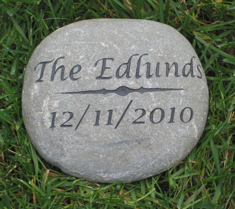 Personalized Oathing Stone Wedding & Engagement Gift Anniversary Gift 7-8 Inch Wedding Gift Garden Stone - Pet Memorial Stones, Personalized Pet Stone Memorial Grave Marker, Dog Memorial, Cat Memorials, Pet Gravestone Markers, Headstone