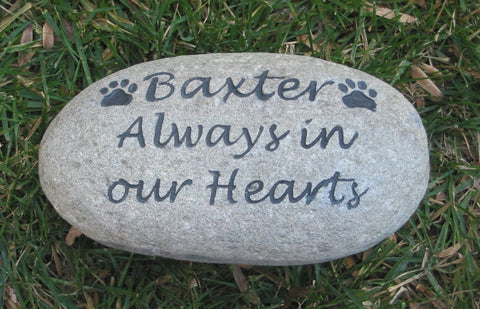 personalized pet memorial stone rock grave marker 7 8 inch pet dog cat