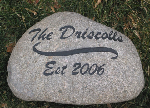 Stone Address Marker Garden Address Marker Engraved Stone 6-7 Inch