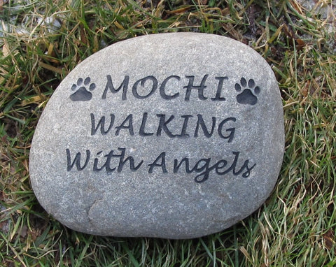 Pet Stone Memorial Dog Cats Gravestone 9-10 Inch Memorial Burial Stone Marker