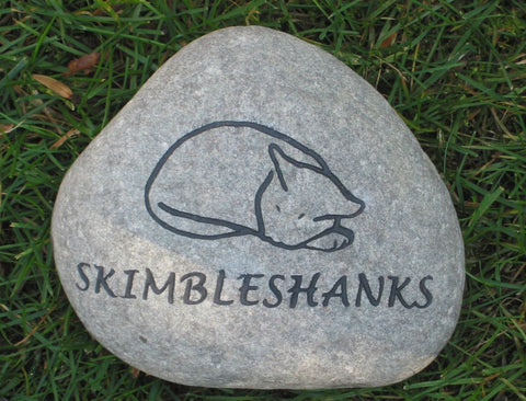 Personalized Cat Memorial Stone 7-8 Inch Garden Memorial Headstone Burial Cemetery Stone Cat Marker with Sleeping Cat Memorial Gravestone - Pet Memorial Stones, Personalized Pet Stone Memorial Grave Marker, Dog Memorial, Cat Memorials, Pet Gravestone Markers, Headstone