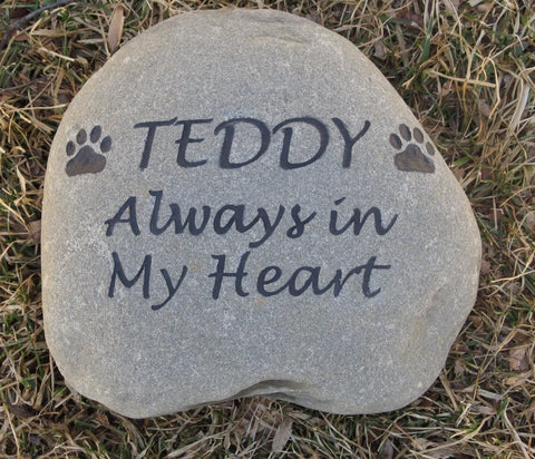 Personalized Engraved Pet Memorials - Stone Memorial Headstone Grave Marker 8-9 Inch Pet Stone Memorial Gravestone Marker - Pet Memorial Stones, Personalized Pet Stone Memorial Grave Marker, Dog Memorial, Cat Memorials, Pet Gravestone Markers, Headstone