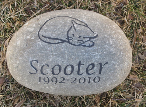 Cat Memorial Stone 8-9 Inch Cat Engraved Pet Memorial Stone Cat Memory Stone Burial Gravestone Marker Tombstone Headstone