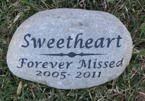 PERSONALIZED Cat Dog Memorial Stone Grave Marker 8-9 Inch Memorial Burial Stone Marker Pet Memorial Tombstone Marker - Pet Memorial Stones, Personalized Pet Stone Memorial Grave Marker, Dog Memorial, Cat Memorials, Pet Gravestone Markers, Headstone
