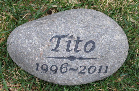 Personalized Pet Memorial Stone Grave Marker Garden Memorial Stone 6-7 Inch Memorial Burial Stone Marker - Pet Memorial Stones, Personalized Pet Stone Memorial Grave Marker, Dog Memorial, Cat Memorials, Pet Gravestone Markers, Headstone