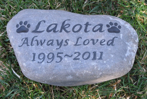 Pet Memorial Gravestone Grave Marker Dog Cat Memorial Stone 9-10 Large Memorial Burial Stone Marker