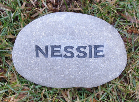Personalized Engraved Stone 3-4 Inch Garden Stone Marker - Pet Memorial Stones, Personalized Pet Stone Memorial Grave Marker, Dog Memorial, Cat Memorials, Pet Gravestone Markers, Headstone