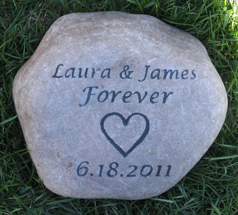 Oathing Stone Wedding Gift Ideas Oath Stone Wedding Gift for the Bride and Groom 9 - 10 Inch Wedding Stone