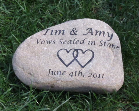 Wedding Gift Oathing Stone Personalized 10-11 Inch Oath Stone Wedding Stone - Lane 201