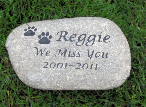 Personalized Memorial Burial Stone Grave Maker Tombstone 8-9 Inch Memorial Headstone Marker Memorial Stone - Pet Memorial Stones, Personalized Pet Stone Memorial Grave Marker, Dog Memorial, Cat Memorials, Pet Gravestone Markers, Headstone