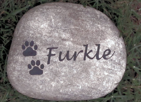Pet Memorial Gravestone Headstone for Dog or Cat Memorial Grave Marker With Paw Prints 5-6 Inch Pet Stone Memorial Burial Stone Marker - Pet Memorial Stones, Personalized Pet Stone Memorial Grave Marker, Dog Memorial, Cat Memorials, Pet Gravestone Markers, Headstone