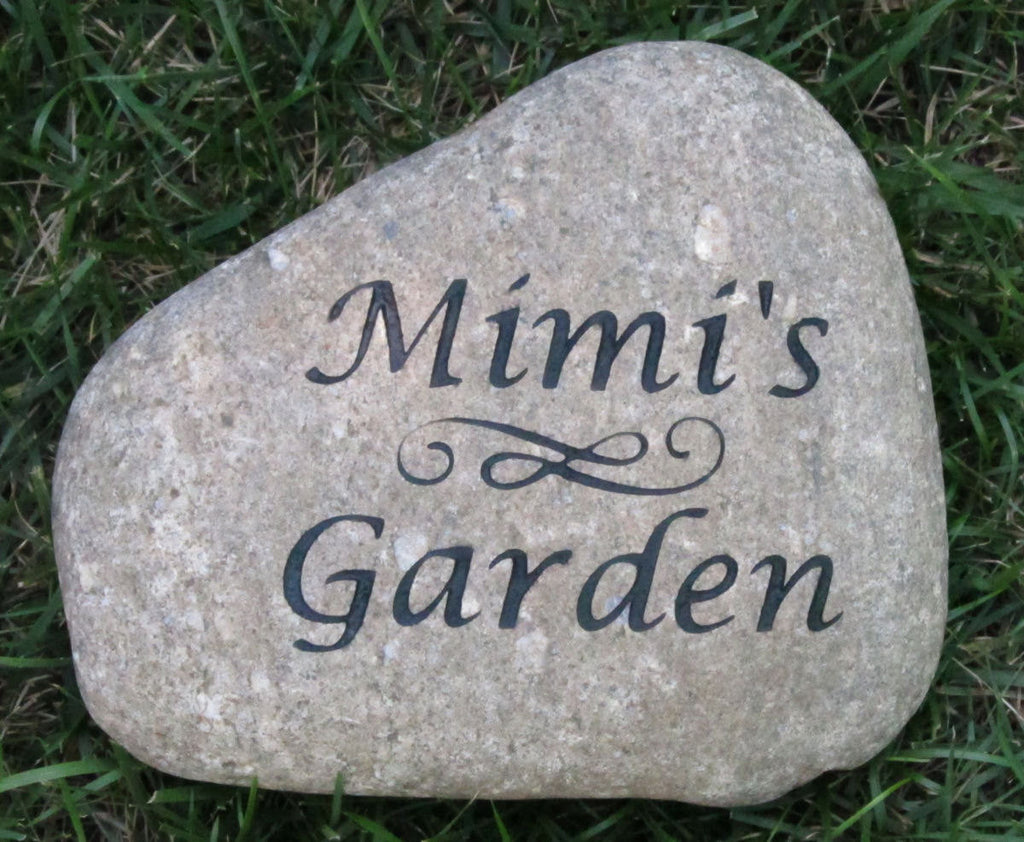 PERSONALIZED Garden Stone Engraved River Stone Garden Stone Great Moth